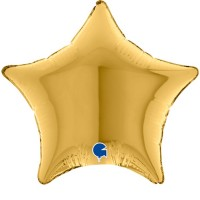 """Star Gold 4"""" Foil Balloon (Pack of 10)"""