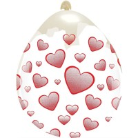 "Hearts 18"" Clear Stuffing Balloon 10ct"