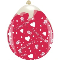 """I Love You 18""""  Clear Stuffing Balloon 10ct"""