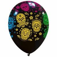 "Sugar Skulls 12"" Latex Balloons 25Ct"