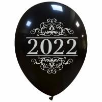 """Superior 12"""" Black New Year 2022 Latex 25ct"""