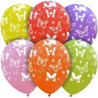 "Big Butterflies Superior 12"" Latex Balloons 25Ct"