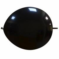 "Superior 12"" Black Linking Balloon 50Ct"