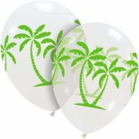 "Green Palm Trees Superior 12"" Latex Balloon"