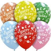 "12"" Birthday Sweets 50Ct Crystal Latex Balloons"
