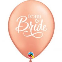 "Team bride 11"" latex balloon 25ct"