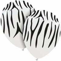 "Superior 12""  White/Black Tiger Print Latex 25ct"