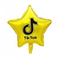 "TIKT0K Gold Star 18"" Foil Balloon (unpackaged)"