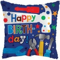 "Happy Birthday Tools 18"" Foil Balloon"