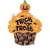 "Trick or Treat Cupcake 32"" Foil Balloon"
