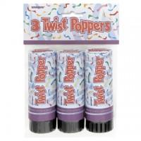 Twist Poppers 11cm 3Ct