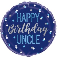 "Happy Birthday Uncle 18"" Foil Balloon"
