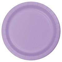 "Lavender 9"" Round Plates 16ct"