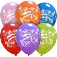 """Welcome Home 12"""" Latex Balloons 25Ct"""