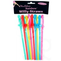 Rainbow Willy Straws