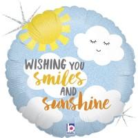 "Wishing you Smiles and Sunshine 18"" Foil Balloon"