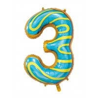 """30"""" Number 3 Foil Balloon"""