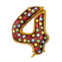 """30"""" Number 4 Foil Balloon"""