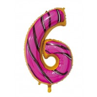 """30"""" Number 6 Foil Balloon"""